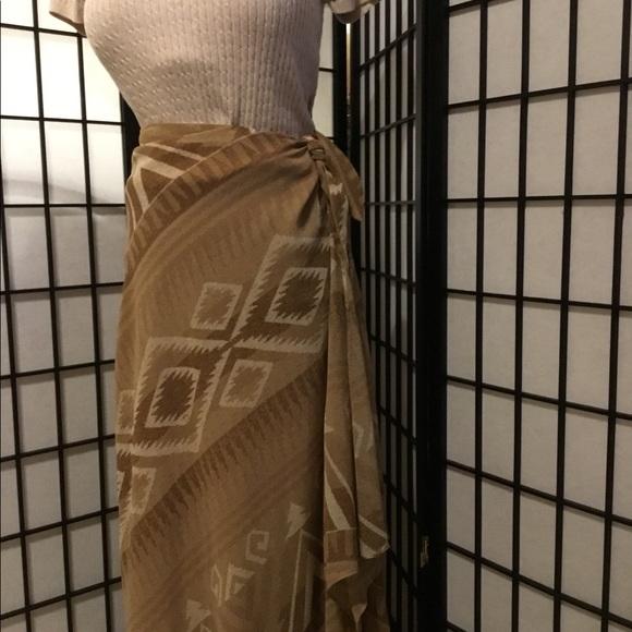 Ralph Lauren Dresses & Skirts - EUC Beautiful Faux Wrap Skirt. Aztec Print